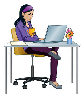 Mona Daly - Commercial Work - Asianwoman_desk