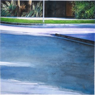 Doug Shoemaker Watercolors - Urban Landscapes / New Work 2012-2014 - Warm Sands Corner