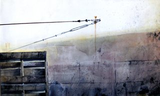 Doug Shoemaker Watercolors - Urban walls - cable in tension