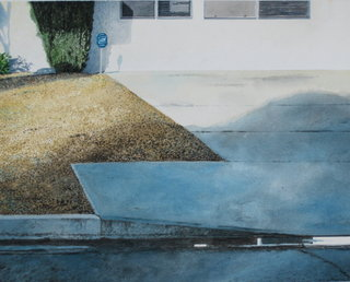 Doug Shoemaker Watercolors - Urban Landscapes / New Work 2012-2014 - End of Sidewalk