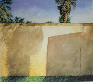 Doug Shoemaker Watercolors - Urban Landscapes / New Work 2012-2014 - Hidden Palms 2