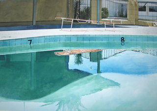 Doug Shoemaker Watercolors - Pools and lounges - oasis1
