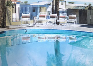 Doug Shoemaker Watercolors - Pools and lounges - oasis2