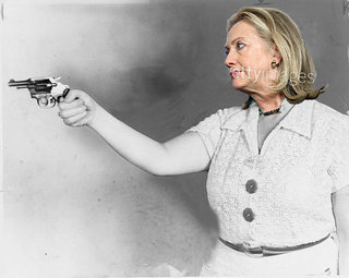 Sarah Ferguson - all - Hillary-with-gun