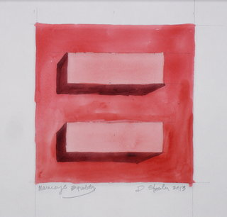 Doug Shoemaker Watercolors - Urban Landscapes / New Work 2012-2014 - Equality-Red