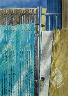 Doug Shoemaker Watercolors - Urban Landscapes / New Work 2012-2014 - Chain-link