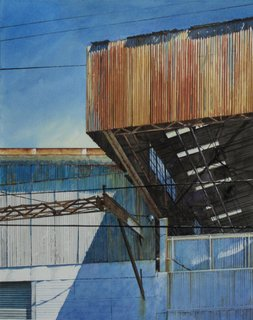 Doug Shoemaker Watercolors - Urban Landscapes / New Work 2012-2014 - Warehouse-2