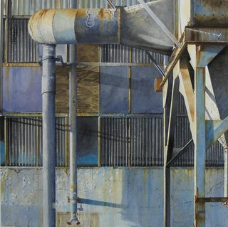 Doug Shoemaker Watercolors - Urban Landscapes / New Work 2012-2014 - Mare-Island-Tank