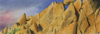 Doug Shoemaker Watercolors - Joshua Tree National Park Artist-in-Residence, Spring 2015 - Joshua-Tree-3