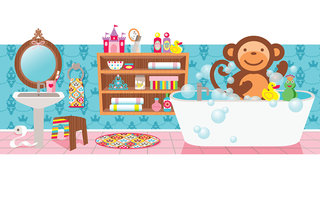 Mona Daly - Childrens Illustration - Mona_MonkeyinTub