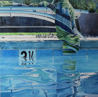 Doug Shoemaker Watercolors - New work: 2015-16 - Poolside-I