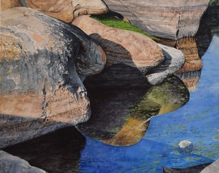 Doug Shoemaker Watercolors - Joshua Tree National Park Artist-in-Residence, Spring 2015 - Barker-Dam