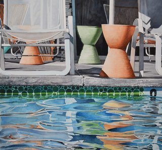 Doug Shoemaker Watercolors - New work: 2015-16 - Poolside-III