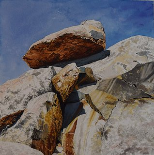 Doug Shoemaker Watercolors - Joshua Tree National Park Artist-in-Residence, Spring 2015 - Cap-Rock