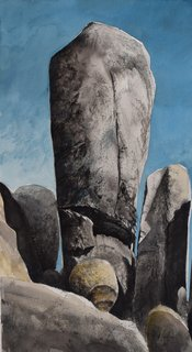 Doug Shoemaker Watercolors - Joshua Tree National Park Artist-in-Residence, Spring 2015 - Monuments