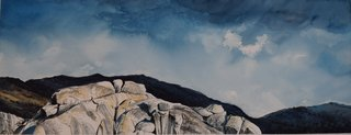 Doug Shoemaker Watercolors - Joshua Tree National Park Artist-in-Residence, Spring 2015 - Storm-Coming