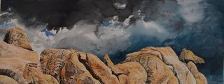 Doug Shoemaker Watercolors - Joshua Tree National Park Artist-in-Residence, Spring 2015 - During-the-Storm