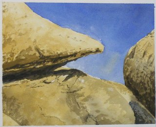 Doug Shoemaker Watercolors - Joshua Tree National Park Artist-in-Residence, Spring 2015 - HPIM5623