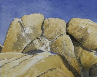 Doug Shoemaker Watercolors - Joshua Tree National Park Artist-in-Residence, Spring 2015 - HPIM5624