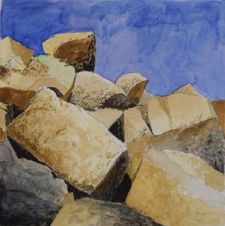 Doug Shoemaker Watercolors - Joshua Tree National Park Artist-in-Residence, Spring 2015 - Behind-Lost-Horse-Cabin