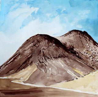 Doug Shoemaker Watercolors - Joshua Tree National Park Artist-in-Residence, Spring 2015 - Malapi-Hill