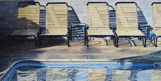 Doug Shoemaker Watercolors - New work: 2015-16 - Poolside-4