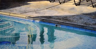 Doug Shoemaker Watercolors - New work: 2015-16 - Poolside-V