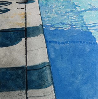 Doug Shoemaker Watercolors - New work: 2017 - Afternoon-Pool-1