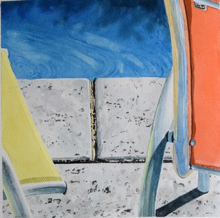 Doug Shoemaker Watercolors - New work: 2017 - Afternoon-Pool-2