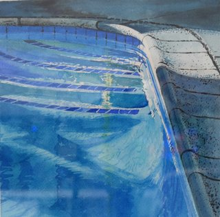 Doug Shoemaker Watercolors - New work: 2017 - Afternoon-Pool-3