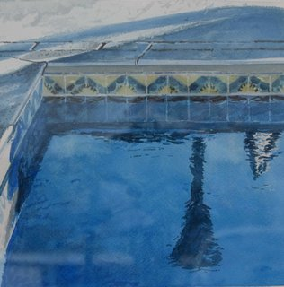 Doug Shoemaker Watercolors - New work: 2017 - Afternoon-Pool-4