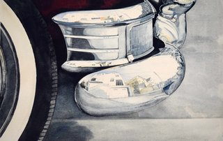 Doug Shoemaker Watercolors - Early work: 1970s-1990s - San-Francisco-reflections
