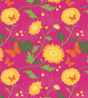 Mona Daly - Surface Design - YellowflowersHero