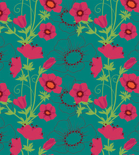 Mona Daly - Surface Design - MDaly_Anemone_pattern