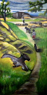 dea Kearns - paintings - family-walk