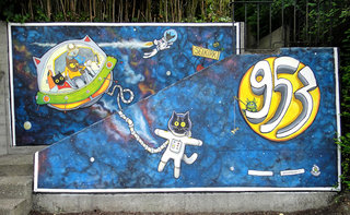 dea Kearns - other things - space cats mural