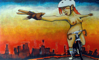 dea Kearns - paintings - the urban bikescape