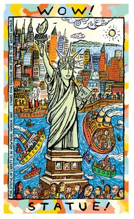 NEUBECKER BOOKS - Wow! America! - wow statue copy